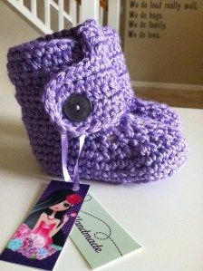 Baby Ugg Booties. My favorite project right now.
