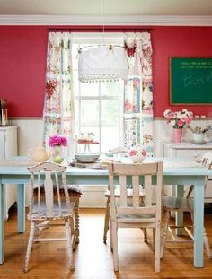 House of Turquoise: Jerusalem Greer + The Adventures of Jolly Goode Gal~ Country/ Shabby Chic decor Decor, Room Makeover, Kitchen Inspirations, Room, White Chair, Cottage Decor, House Styles, Decor Inspiration, Home Decor