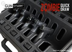 Zombie Quick Draw Universal 6 Pack Handgun Case by GunCruzer  How freaking awesome is this?