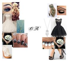 """Black and White wedding Bridesmaids"" by sammieburkeee on Polyvore featuring Lucky Brand"