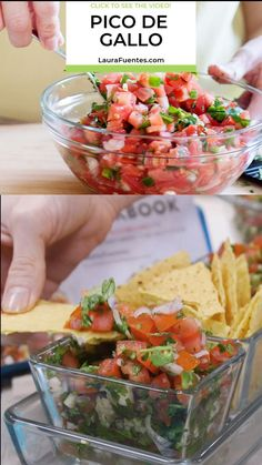 Nothing like fresh, homemade pico de gallo to top on tacos, quesadillas, nachos, or any of your favorite Mexican dishes. See how to make pico de gallo with this quick video and recipe. Homemade Pico d Appetizer Recipes, Dinner Recipes, Mexican Food Appetizers, Comida Diy, Cooking Recipes, Healthy Recipes, Easy Recipes, Skillet Recipes, Cooking Games