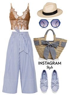 """""""Instagram Style"""" by thestyleartisan ❤ liked on Polyvore featuring By Malene Birger, Ermanno Scervino, Emilio Pucci, Filippo Catarzi and Roxy"""