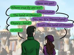 Loki x Darcy - Disneyland by riotfaerie// I don't ship them, but I thought this was awesome <3 That's so Darcy