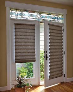 15 brilliant french door window treatments door window treatments blinds for the front door its neutral and adds a bit of texture it solutioingenieria Gallery