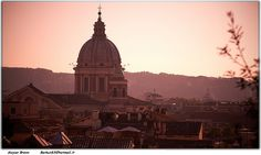 Sunset View from Villa Borghese, Rome