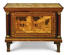 date unspecified A NORTH ITALIAN NEOCLASSICAL TULIPWOOD, AMARANTH, FRUITWOOD AND MARQUETRY COMMODE ATTRIBUTED TO GIOVANNI MAFFEZZOLI LATE 18TH CENTURY Estimate 60,000 — 90,000 USD. unsold