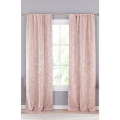 Lala + Bash Clarice Blackout Window Panels (€38) ❤ liked on Polyvore featuring home, home decor, window treatments, curtains, filler, pink, room, pink window panels, blackout drapery and black out window treatments