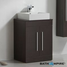 lassen wenge 600mm counter top basin door unit floor standing