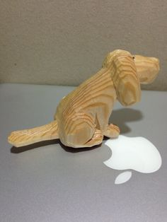 Woodcarving dog  pine Flandes 1