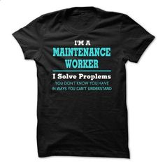 Awesome Maintenance Worker Tee Shirts - hoodie women #tee aufbewahrung #sweater storage