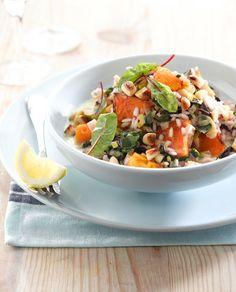 Vegetarian recipes: Roast Pumpkin and Swiss Chard Risotto Pumpkin Recipes, Veggie Recipes, Vegetarian Recipes, Cooking Recipes, Healthy Recipes, Veggie Meals, Savoury Recipes, Mushroom And Pea Risotto, Pumpkin Risotto