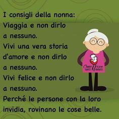 i consigli Dell nonna | frasi pensieri e perle di saggezza ...