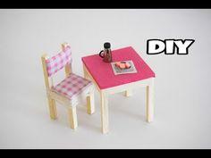 Mini Masa Sandalye Yapımı | Kendin Yap Barbie Eşya Yapımı - YouTube