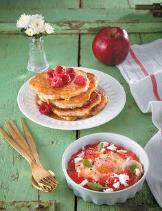 Το τέλειο πρωινό για να περιποιηθείτε μικρά και μεγάλα παιδιά... Pancakes, Breakfast, Sweet, Recipes, Food, Morning Coffee, Candy, Essen, Pancake