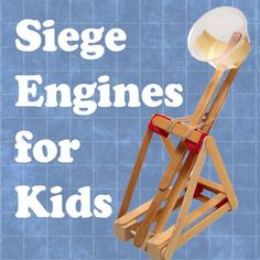 This was a pretty fun afternoon! Siege Engines for Kids