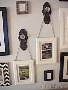 Hang pictures from door knobs...