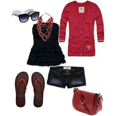 blue, red and summer - Polyvore