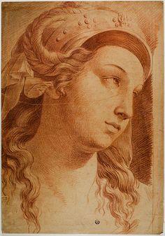 after Raffaello Sanzio, called Raphael Italian, 1483-1520 Head of Comity, c. 1750. Art Institute Chicago #TuscanyAgriturismoGiratola