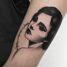 girl, noir, arm tattoo, tattoo for all