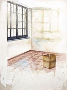 """""""Dimenticanza"""" 2013, pastello, olio e pigmenti su tela, cm 200 x 150"""