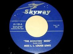 Miss L.L. Louise Lewis - THE MONSTERS' BRIDE (Gold Star Studios) (1964) - YouTube Halloween Songs, Monster S, Gold Stars, The Creator, Studios, Hollywood, Bride, Youtube, Wedding Bride