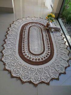 Ideas crochet mandala pillow pattern free for 2019 Crochet Rug Patterns, Crochet Mandala Pattern, Crochet Basket Pattern, Crochet Headband Pattern, Doily Rug, Crochet Doilies, Knit Rug, Crochet Carpet, Crochet Table Runner