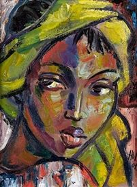 View The yellow scarf By Hennie Niemann Junior; oil on canvas; Access more artwork lots and estimated & realized auction prices on MutualArt. Painting People, Woman Painting, Painting & Drawing, African Art Paintings, South African Artists, African American Art, Portrait Art, Face Art, Contemporary Paintings