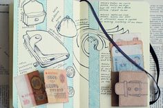 journal illustration wallet pop-up