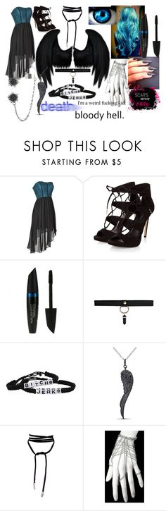 """outfit #35 (eyeless)"" by eyeless-angel-of-death ❤ liked on Polyvore featuring Dickies, bleu, Max Factor and Miadora"
