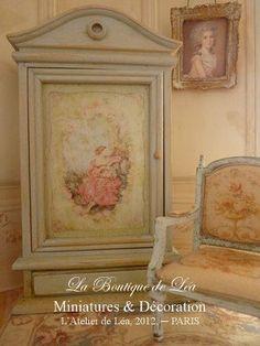 Romantic wardrobe  For dollhouse 1/12th scale by AtelierdeLea, €69.00