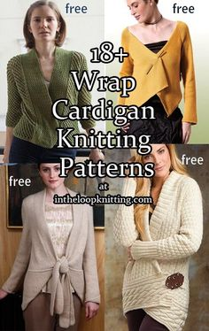 Knitting patterns for Wrap Cardigans