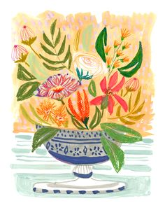 FLOWERS FOR BROOKE - PRINT | Lulie Wallace