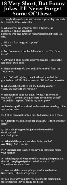 best 1 liner jokes ever