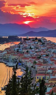 Poros island, Greece:
