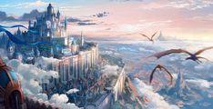 Castle by panpan wu fantasy castle, drawing s, wallpaper s, psychedelic, su Fantasy City, Fantasy Castle, Fantasy Places, Fantasy World, Fantasy Concept Art, Dark Fantasy Art, Fantasy Artwork, Fantasy Story, Fantasy Art Landscapes