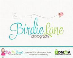 Premade Bird Logo Design Photography Logo by stylemesweetdesign, $35.00