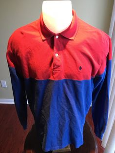 New to MajorDivision on Etsy: Vintage Red/Blue Long Sleeve Polo by Ralph Lauren Polo (25.00 CAD)