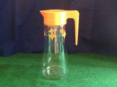 Anchor-Hocking Atomic Orange Starburst Juice Pitcher L-4027 by FindorCollect on Etsy