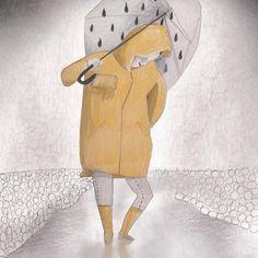 È arrivata la pioggia ☔️ #illustration #childrenillustration #rain
