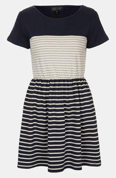 Topshop Stripe Skater Dress available at #Nordstrom
