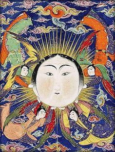 The Sun, illuminated Book of Omens called the Fālnāmeh. 1580s. Islamic. Iran.