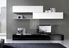 sufragerie Living Room Units, Home Living Room, Living Room Decor, Bedroom Closet Design, Home Room Design, Tv Unit Furniture, Furniture Design, Tv Wanddekor, Tv Wall Decor