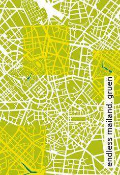 Tapete: endless mailand, gruen - Die TapetenAgentur