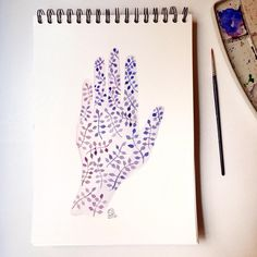 Hand - Watercolour | by Florence S. | Bubbles on my Planet