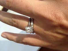 Gorgeous cushion solitaire with baguette band
