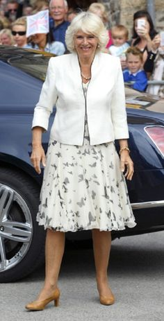 Camilla, Duchess of Cornwall visits Looe on day one of her and Prince Charles, Prince of Wales's annual visit to Devon and Cornwall, 14.07.2014 in Looe, England.