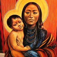 Native American Mother with Child.