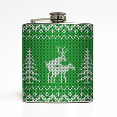 Ugly Christmas Sweater Flask Green Humping by LiquidCourage