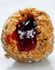 Jam-Stuffed Peanut Butter Balls