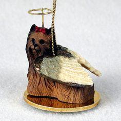 Yorkie Christmas Ornament